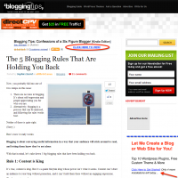 The 5 Blogging Rules That Are Holding You Back