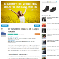 18 Timeless Secrets of Happy People